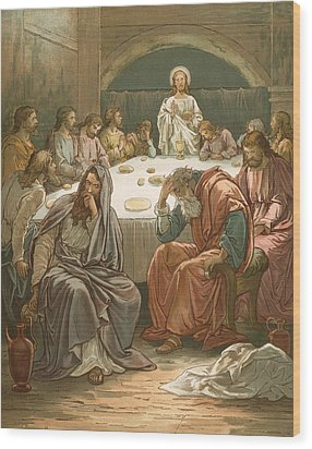 The Last Supper Wood Print by John Lawson