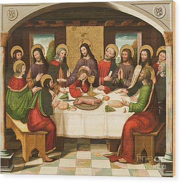 The Last Supper Wood Print by Master of Portillo