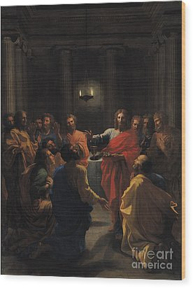 The Last Supper Wood Print by Nicolas Poussin