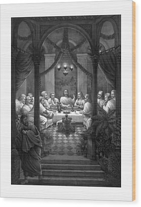 The Last Supper Wood Print by War Is Hell Store