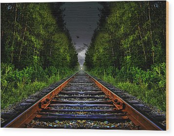 Wood Print featuring the photograph The Last Train Ride by Gary Smith