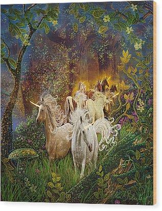 The Last Unicorns Wood Print by Steve Roberts
