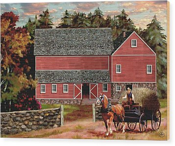 The Last Wagon Wood Print by Ron Chambers