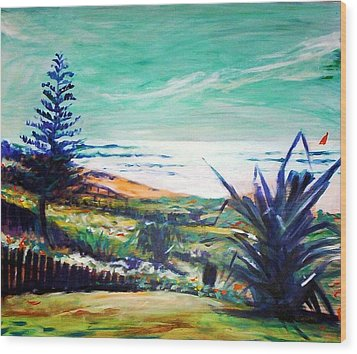 The Lawn Pandanus Wood Print by Winsome Gunning