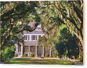 The Legare-waring House At Charles Town Landing Wood Print