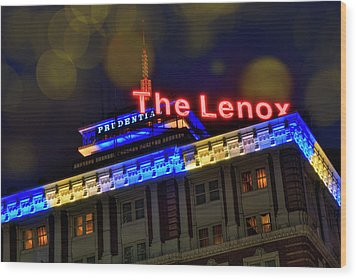 Wood Print featuring the photograph The Lenox And The Pru - Boston Marathon Colors by Joann Vitali
