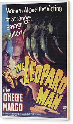 The Leopard Man Wood Print by Movieworld Posters