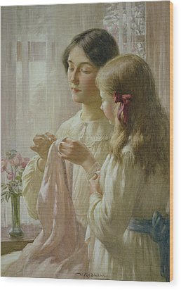 The Lesson Wood Print by William Kay Blacklock