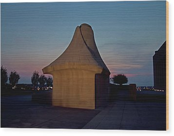 The Liberty Memorial Sphinx Wood Print