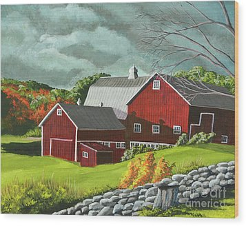 The Light After The Storm Wood Print by Charlotte Blanchard
