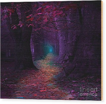 The Light At The End Wood Print by Rod Jellison