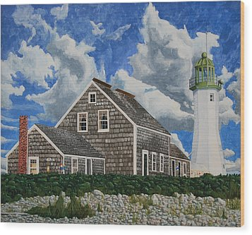 The Light Keeper's House Wood Print by Dominic White