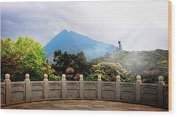 The Light Of Buddha Wood Print