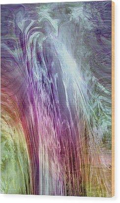 The Light Of The Spirit Wood Print by Linda Sannuti