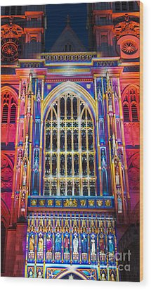 The Light Of The Spirit Westminster Abbey London Wood Print by Tim Gainey