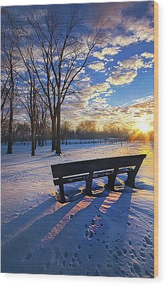 Wood Print featuring the photograph The Light That Beckons by Phil Koch
