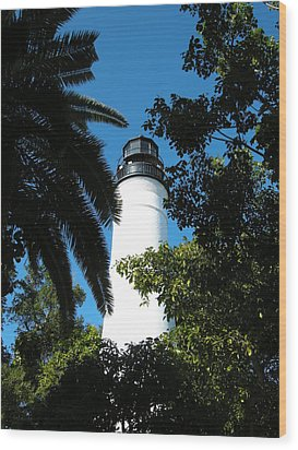 The Lighthouse Wood Print by Audrey Venute