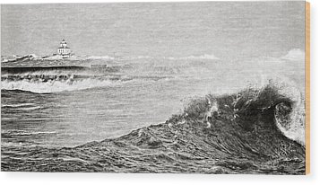 The Lighthouse Wood Print by Everet Regal