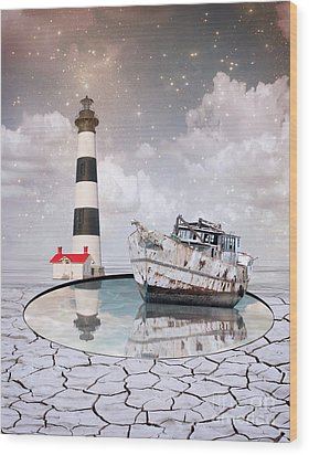 Wood Print featuring the photograph The Lighthouse by Juli Scalzi