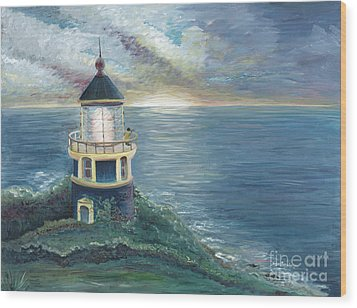 The Lighthouse Wood Print by Nadine Rippelmeyer