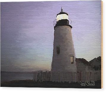 Wood Print featuring the painting The Lighthouse by Wayne Pascall