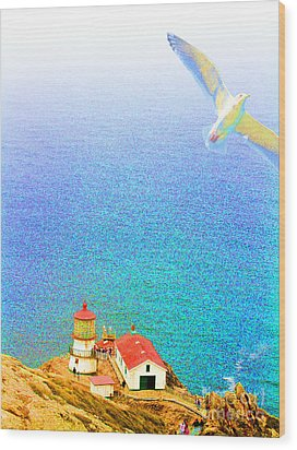 The Lighthouse Wood Print by Wingsdomain Art and Photography