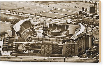 The Linc - Aerial View Wood Print by Bill Cannon