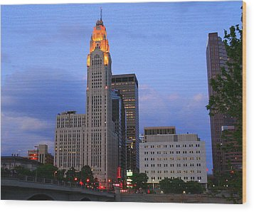 The Lincoln Leveque Tower Wood Print by Laurel Talabere