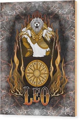 The Lion Leo Spirit Wood Print