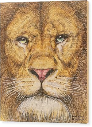 The Lion Roar Of Freedom Wood Print by Kent Chua