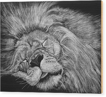 The Lion Sleeps Tonight Wood Print