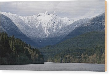 The Lions Mountain Vancouver Wood Print by Pierre Leclerc Photography