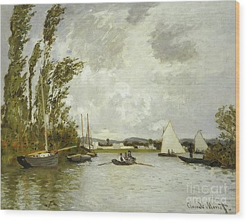 The Little Branch Of The Seine At Argenteuil Wood Print by Claude Monet