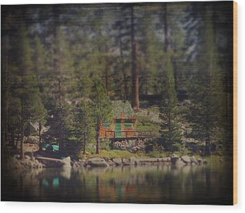 The Little Cabin Wood Print by Laurie Search