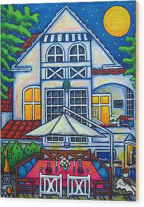 The Little Festive Danish House Wood Print by Lisa  Lorenz