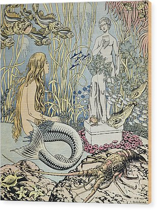 The Little Mermaid Wood Print by Ivan Jakovlevich Bilibin