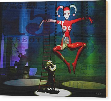 The Little Puppet Master Wood Print by Bob Orsillo