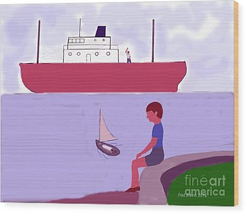 The Little Sailboat Wood Print by Fred Jinkins