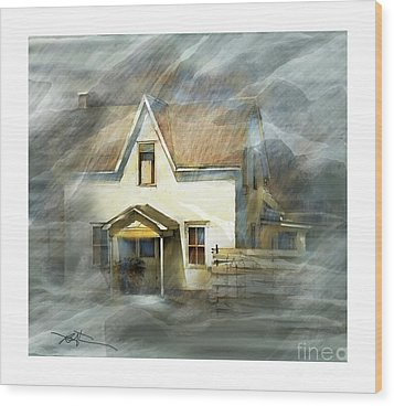 The Little White House On Hwy 6 Wood Print by Bob Salo