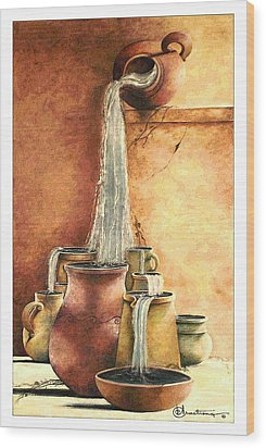 The Living Water Wood Print by Denise Armstrong