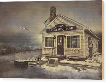 Wood Print featuring the photograph The Lobster Pound by Robin-Lee Vieira