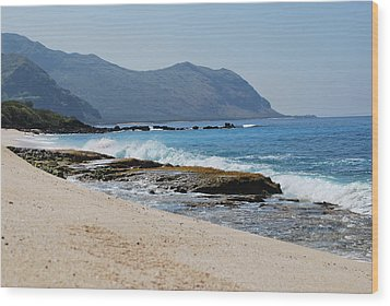 Wood Print featuring the photograph The Local's Beach by Amee Cave