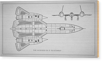 The Lockheed Sr-71 Blackbird Wood Print