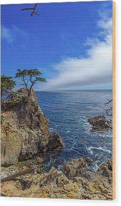Wood Print featuring the photograph The Lone Cypress 17 Mile Drive by Scott McGuire