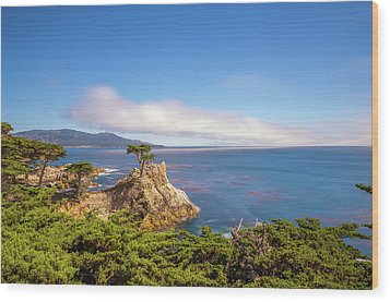 Wood Print featuring the photograph The Lone Cypress Pebble Beach by Scott McGuire