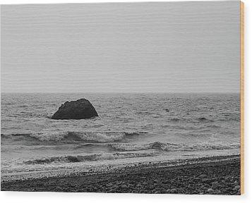 The Lone Rock Wood Print