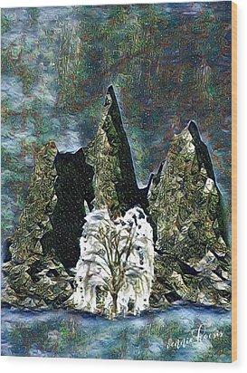 The Loneliest Tree Wood Print by Vennie Kocsis