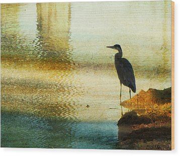 The Lonely Hunter II Wood Print by Amy Tyler