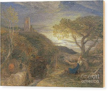 The Lonely Tower Wood Print by Samuel Palmer
