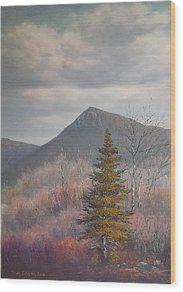 The Lonesome Pine Wood Print by Sean Conlon